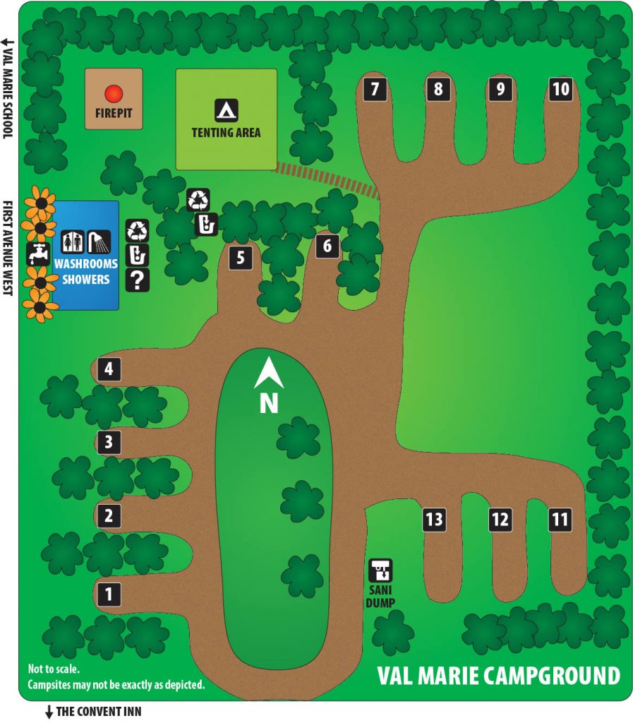 Val Marie Campground Map